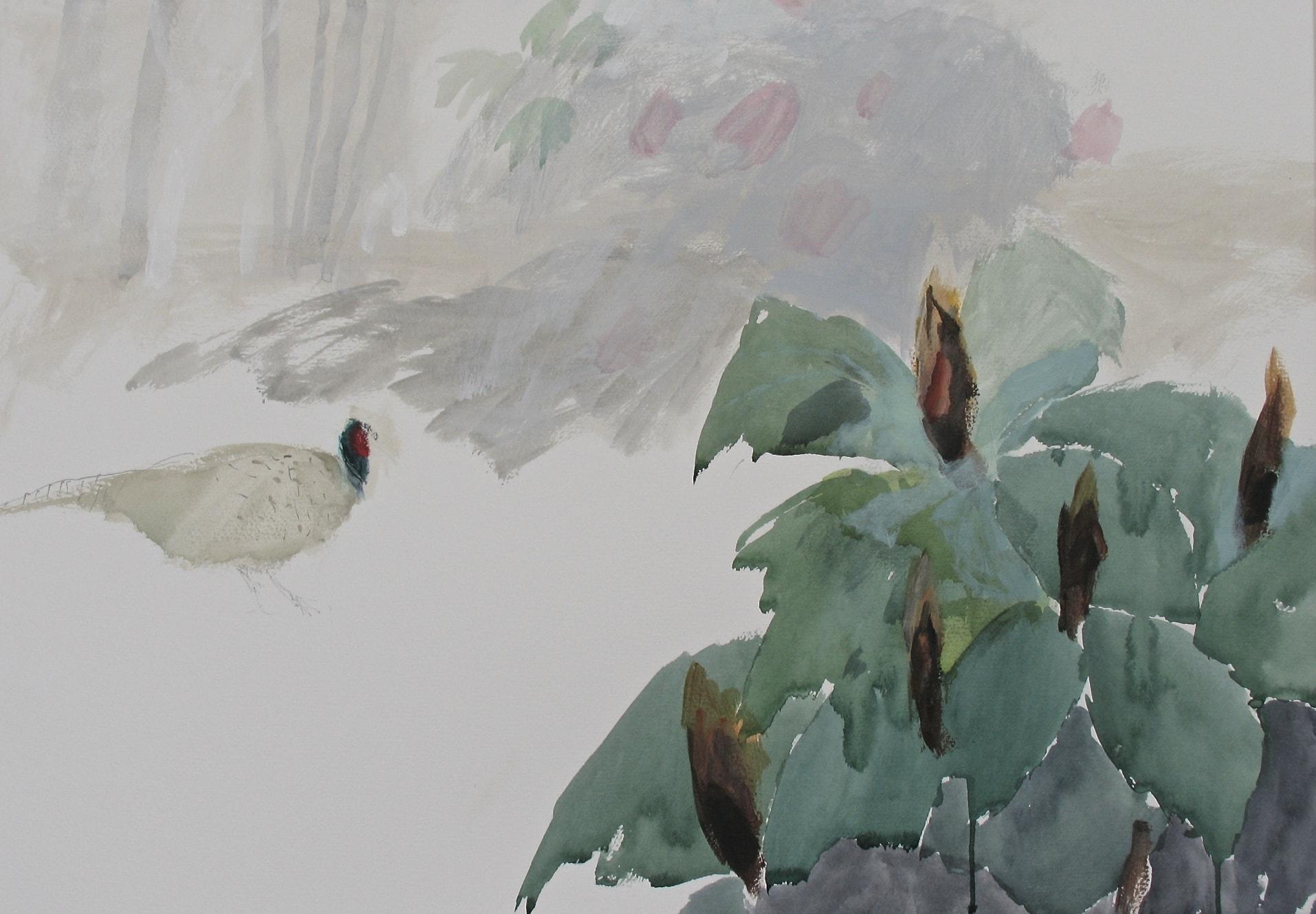 Pheasant and Trillium